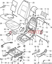 esaabparts com saab 9 5 9600 u003e car body internal parts u003e seat