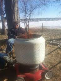 Making Fire Pit From Washer Tub - 12 best washing machine drum fire pits images on pinterest drums