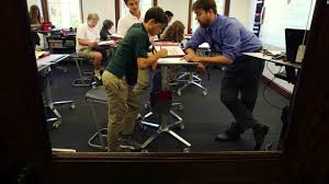 Desks For High School Students by Students Using Standing Desks To Learn Cnn