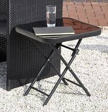 Side Patio Table Small Folding Garden Table Side Patio Outdoor Coffee Tea Drinks