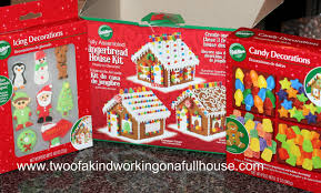 christmas edible craft wilton pre baked gingerbread house kit