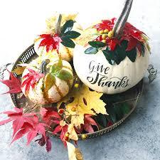 diy botanical pumpkin centerpiece tombow usa blog