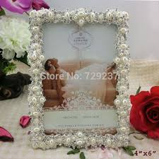 picture frame wedding favors antique silver pearls metal photo frame wedding favors handmade