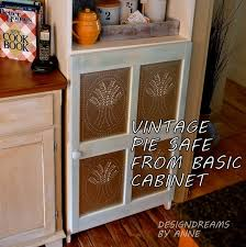 dress up a plain jane cabinet with pie safe tin panels hometalk