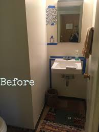 Pretty Powder Rooms Fresh Indigo White Aged Brass Powder Room And Laundry Room Before