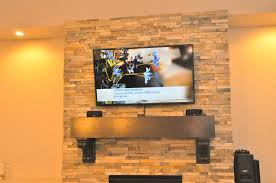 how to mount a flat screen tv on a stone fireplace diy diy