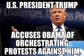 Blame Obama Meme - trump blames obama for protests memenews
