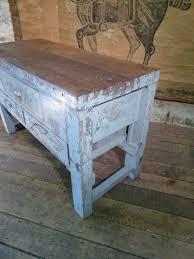 french vintage oak workbench table antique kitchen island