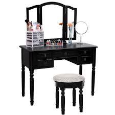 Vanity Bathroom Stool by Bathroom Round Linen Seat Bathroom Vanity Stool With Black Wood