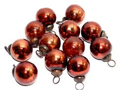 Red Mercury Glass Christmas Ornaments Amazon Com Antique Mercury Glass Ornaments Copper Plain Home