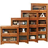 Lawyers Bookcase Plans Amazon Com Mahogany Victorian Stacked Barrister Bookcase Curio