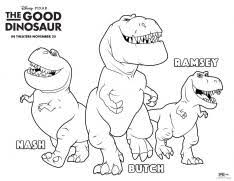good dinosaur printable coloring pages activity sheets