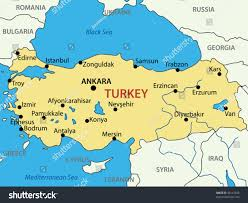 Greece Turkey Map by Republic Turkey Vector Map Stock Vector 98147846 Shutterstock