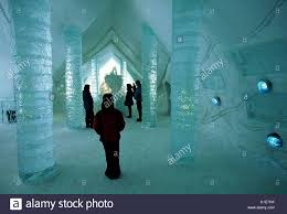 canada quebec province ice hotel at the touristic station stock