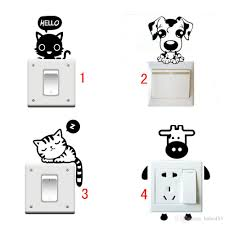 cute cartoon animal black cat switch sticker wall stickers home cute cartoon animal black cat switch sticker wall stickers home decoration kids bedroom parlor decor wholesale roommates stickers self adhesive wall