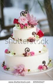 wedding cake roses pink white wedding cake roses stock photo 105040427