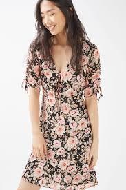 tall peony blush tea dress dresses clothing topshop floral