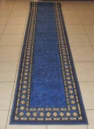 Blue Rug Runners For Hallways Quality Bargain Priced Modern Rubber Back Runner Rugs 67x500cm