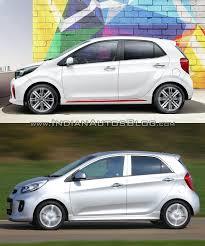kia picanto 2017 kia picanto vs 2014 kia picanto side profile indian autos blog