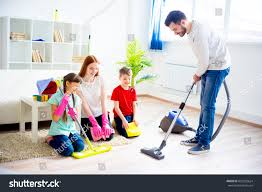 family cleaning house stock photo 632228624 shutterstock