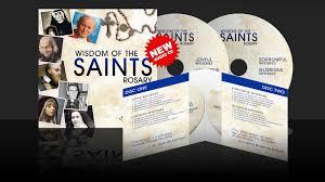 rosary cd new audio rosary cd wisdom of the saints luke productions