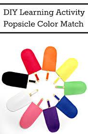 Matching Colors by Simple Craft Idea Popsicle Matching Game