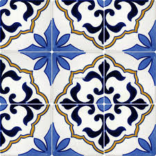 Tile Mexican Tile Designs Stencil Mexican Talavera Frost Proof Tile