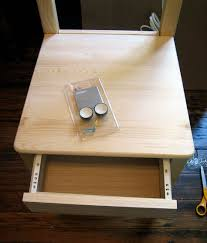 add a drawer under a table diy project ikea bedside chair design sponge