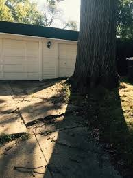 tree removal driveway repair worth it for rental or future sale