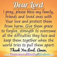 prayer for my family and loved ones motivational words of wisdom