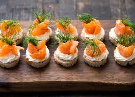 rye bread canapes salmon canapes