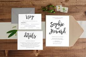 handwritten modern wedding invitation paper alphabet