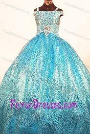 new ball gown straps pageant dresses for kids with paillette over