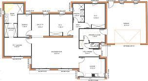 plan maison plain pied en l 4 chambres plan maison 4 chambres etage 10 665px l200614153429 lzzy co moderne