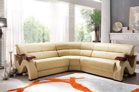 L Tables Living Room Furniture Modern Bonded Leather Sofa Set Furniture In Beige 1623 6
