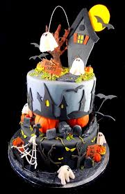 Halloween Decorated Cakes - best 25 haunted house cake ideas on pinterest haunted house