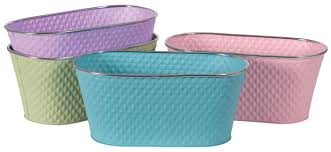 cotton candy oval metal planters 13 75