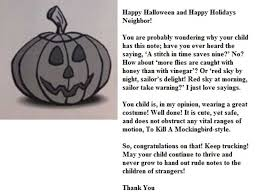 woman handing out rude letters to u0027obese u0027 kids on halloween the