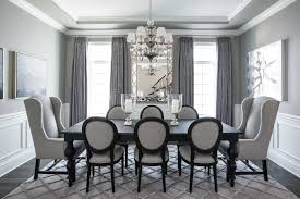 grey color palette dining room traditional with dining chairs