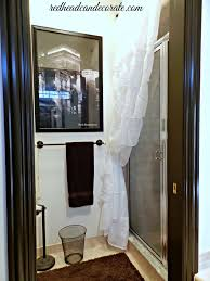 How To Install Shower Curtain Ruffled Curtain Over Glass Shower Door Redhead Can Decorate
