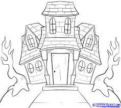 halloween house drawing u2013 fun for halloween