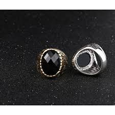 black zircon rings images Carving with black zircon ring for men jpg