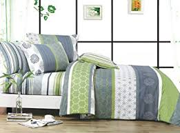 amazon com swanson beddings serene 3 piece 100 cotton bedding