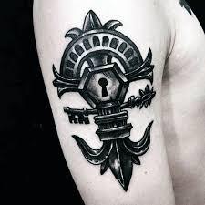 60 key tattoos for unlock masculine design ideas