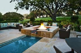 Glass Firepits Glass For Pits Inspiring A Cool Water Feature And