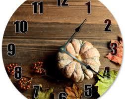 pumpkin clock etsy