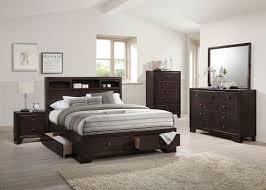 Bookcase Bed Queen Acme 19560q Madison 4pcs Espresso Bookcase Queen Storage Bedroom Set