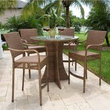 furniture ideas high patio set with wicker patio material and