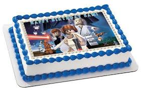 wars edible cake toppers lego wars 7 edible birthday cake or cupcake topper edible