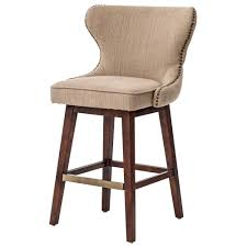 Swivel Counter Stools With Back Dancy Modern Classic English Tufted Beige Swivel Counter Stool